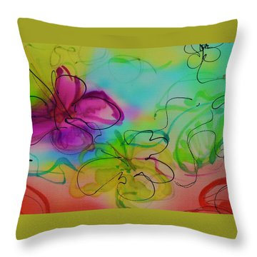 Large Flower 2 Throw Pillow