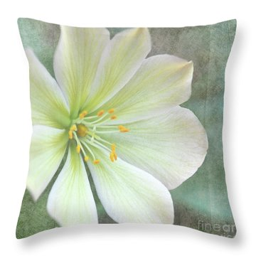 Large Flower Throw Pillow