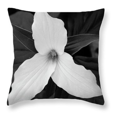 Throw Pillow featuring the photograph Large Flowered Trillium 2 by Chris Scroggins