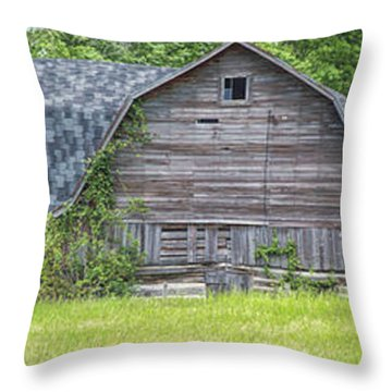 Large Grey Barn Throw Pillow