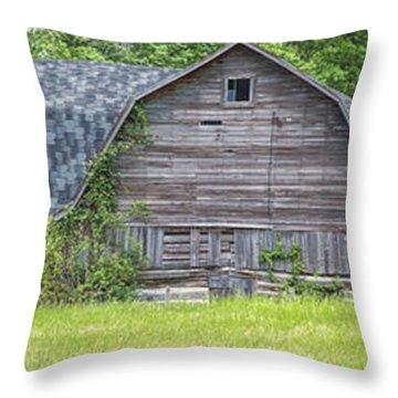 Large Grey Barn Throw Pillow