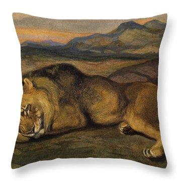 Large Lion Throw Pillow