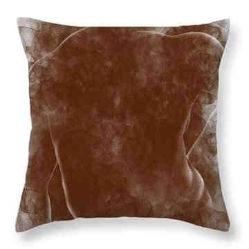 Large Man Backside Throw Pillow by Peter J Sucy