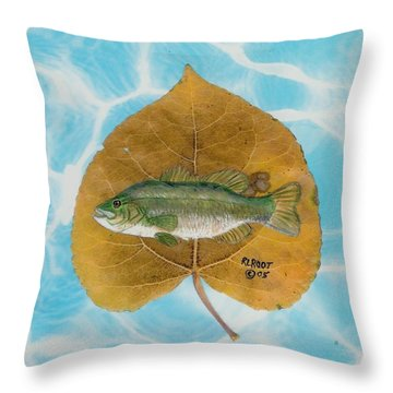 Large Mouth Bass #2 Throw Pillow