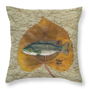 Large Mouth Bass #3 Throw Pillow