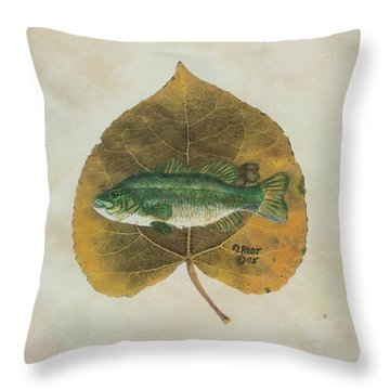 Large Mouth Bass Throw Pillow