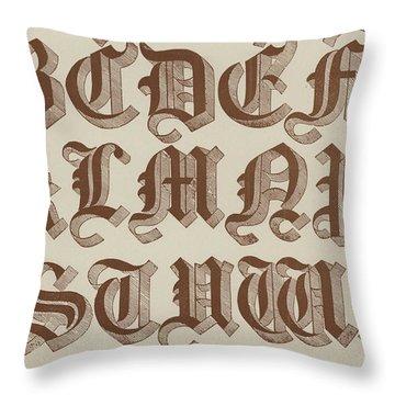 Large Old English Riband Throw Pillow