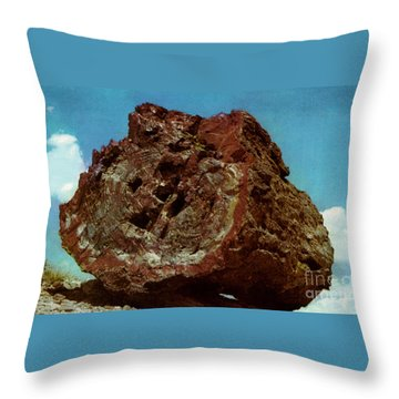 Large Petrified Log  Throw Pillow by Ruth  Housley