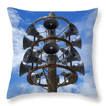 Throw Pillow featuring the photograph Large Public Address System by Yali Shi
