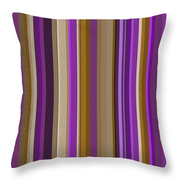 Large Purple Abstract - Three Throw Pillow