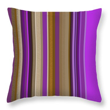 Large Purple Abstract Throw Pillow