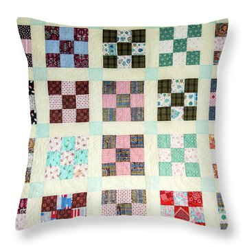 Large Quilt Throw Pillow