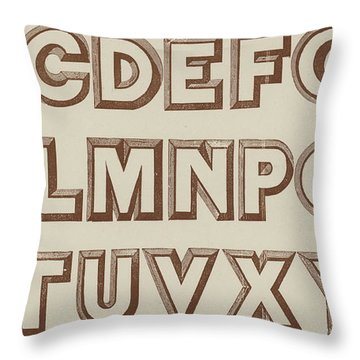 Large Relief  Throw Pillow
