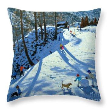 Large Snowball Zermatt Throw Pillow by Andrew Macara