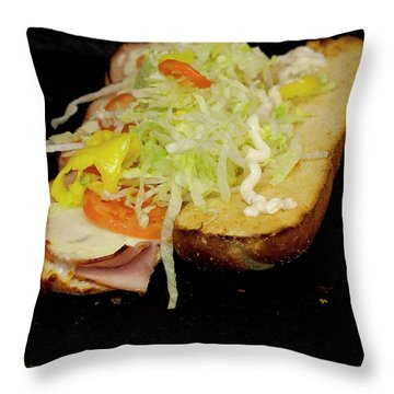 Large Sub Throw Pillow