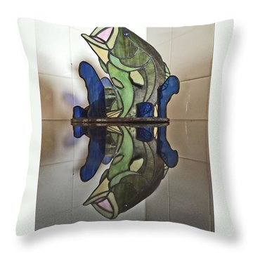 Largemouth Bass Throw Pillow