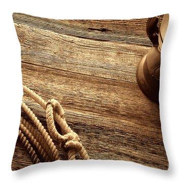Lariat And Lantern Throw Pillow