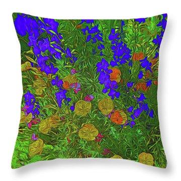Larkspur And Primrose Garden 12018-3 Throw Pillow