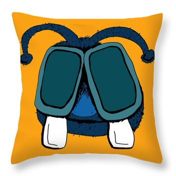 Larrie The Buck-toothed Fly Throw Pillow by Jera Sky