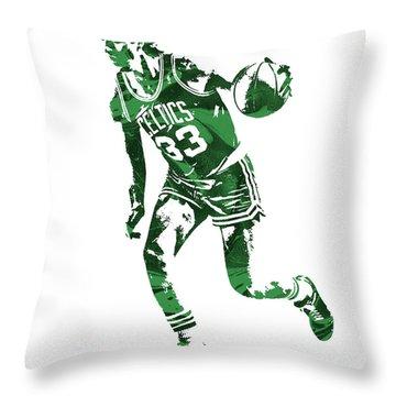 Larry Bird Boston Celtics Pixel Art 10 Throw Pillow