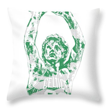 Larry Bird Boston Celtics Pixel Art 5 Throw Pillow