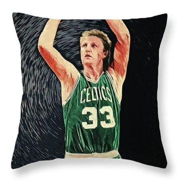 Larry Bird Throw Pillow