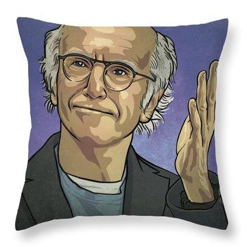 Larry David Throw Pillow