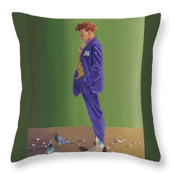 Larry Lightshoes Throw Pillow