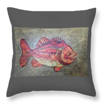 Larry Loud Mouth Throw Pillow