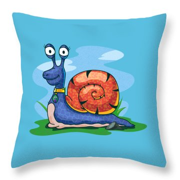 Larry The Snail Throw Pillow