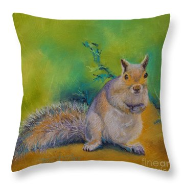 Larry Throw Pillow by Tracy L Teeter
