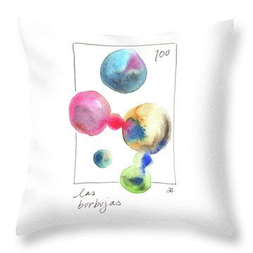 Las Burbujas Throw Pillow