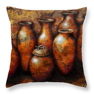 Las Copuchas Throw Pillow by J- J- Espinoza