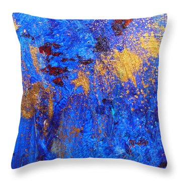 Throw Pillow featuring the painting Las Flores by Mary Sullivan