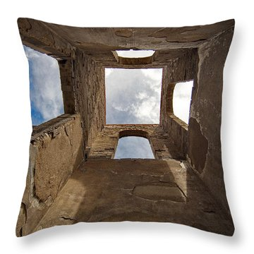 Las Mesitas Bell Tower Throw Pillow