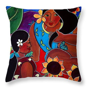 Las Mujeres  Throw Pillow