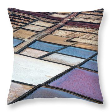 Throw Pillow featuring the photograph Las Salinas by Delphimages Photo Creations