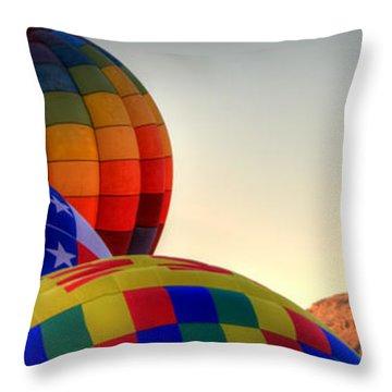 Las Vegas Balloon Festival Throw Pillow