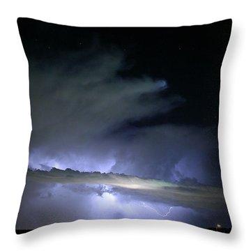 Las Vegas Lightning Throw Pillow