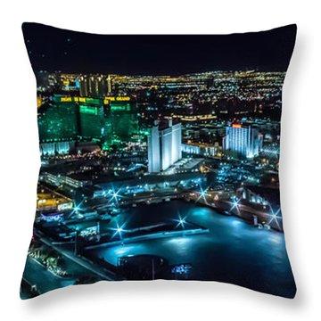 Las Vegas Looking North Throw Pillow