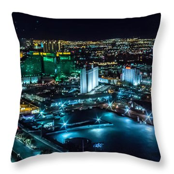 Las Vegas Looking North Throw Pillow