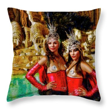 Las Vegas Showgirls Throw Pillow