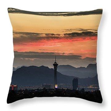 Las Vegas Sunrise July 2017 Throw Pillow