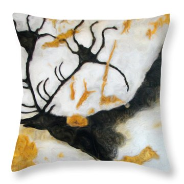 Lascaux Megaceros Deer 2 Throw Pillow