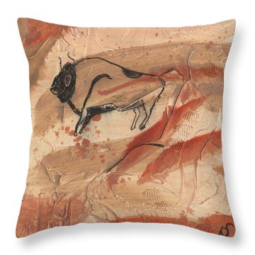 Lascaux Throw Pillow by Phil Strang