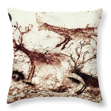 Lascaux: Stags Throw Pillow
