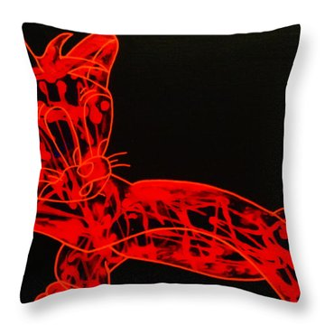 Laser Throw Pillow