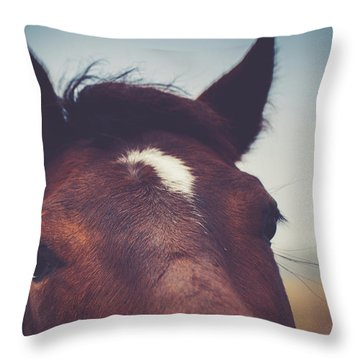 Throw Pillow featuring the photograph Lashes by Shane Holsclaw