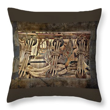 Lashings Throw Pillow