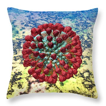 Lassa Virus Throw Pillow